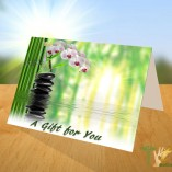 Table Top Folded Card Gift Certificate Graphic